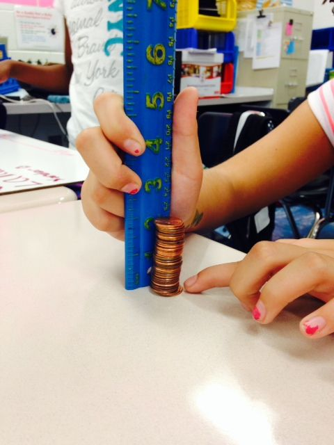 How many pennies in 2 inches