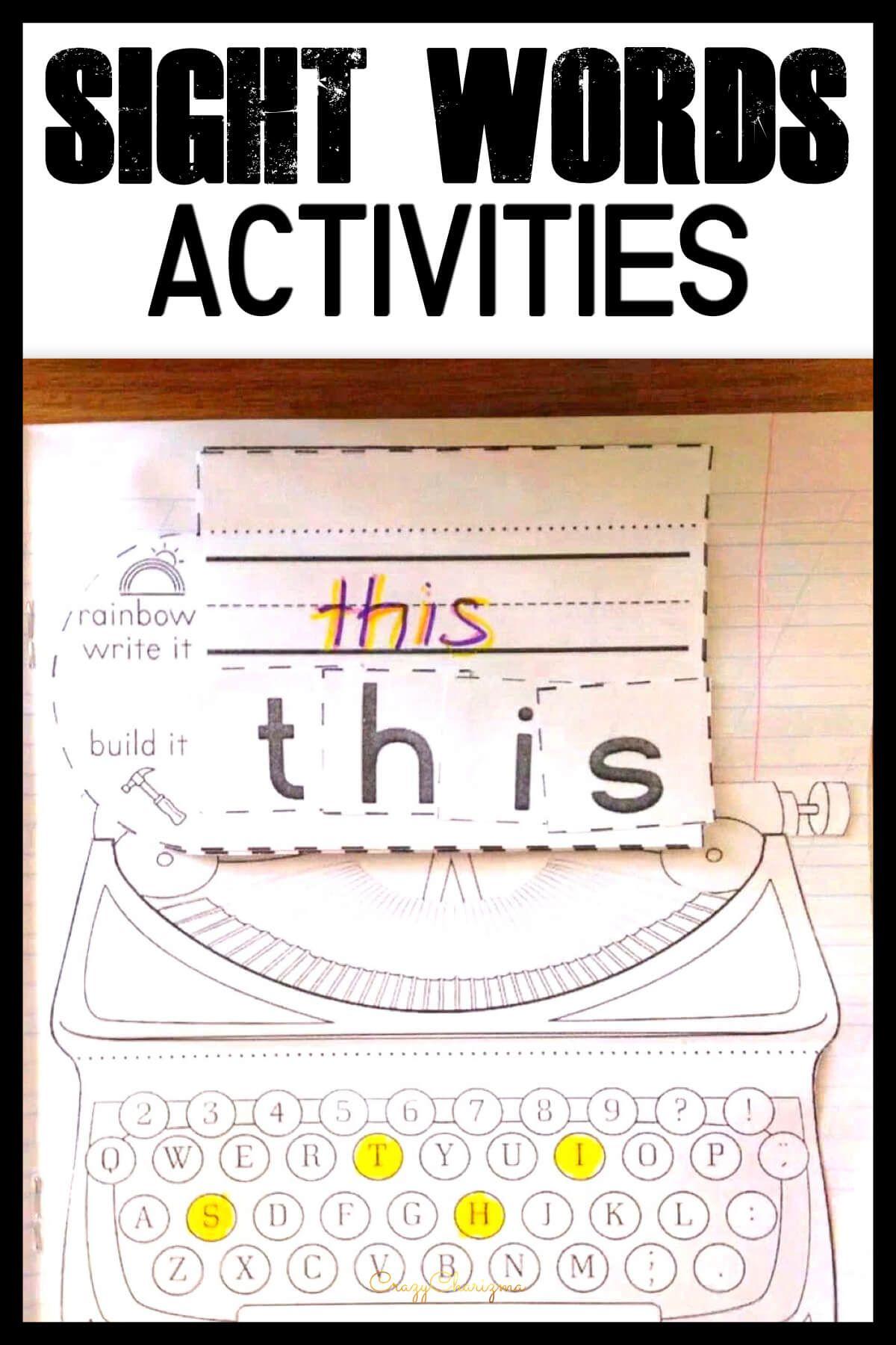 Sight Word Activities 1st Grade Year 2 Morning Work