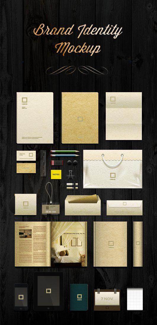 brand identity mock-up template (psd) | brand identity, template, Presentation templates