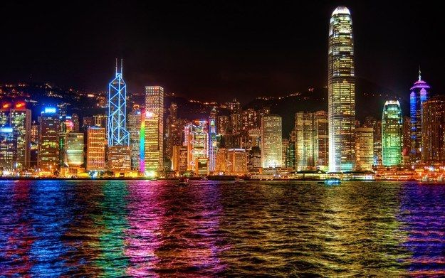 Hong Kong China With Images City Lights At Night