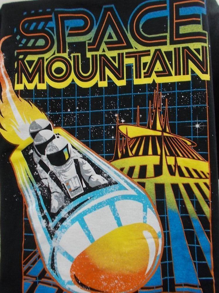 Disneyland park space mountain men t shirt xl tomorrowland