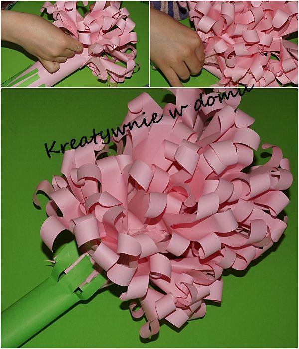 Hiacynt Z Papieru Kwiatek Na Dzien Mamy Kwiat Z Papieru Crafts Diy And Crafts Diy