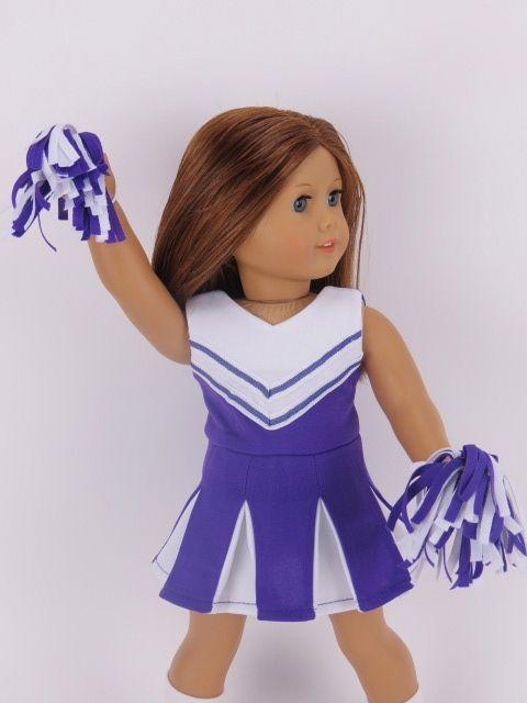 Trendy Dolls - Purple Cheer Uniform fits 18 inch American Girl Dolls, $14.00 (http://www.mytrendydoll.com/dancewear-and-sportswear/purple-cheer-uniform-fits-18-inch-american-girl-dolls/)