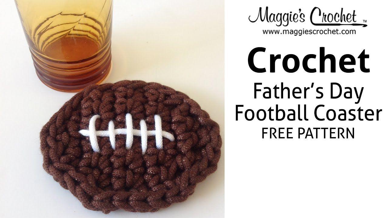 Football Coaster Free Crochet Pattern - Right Handed | Kitchen ...