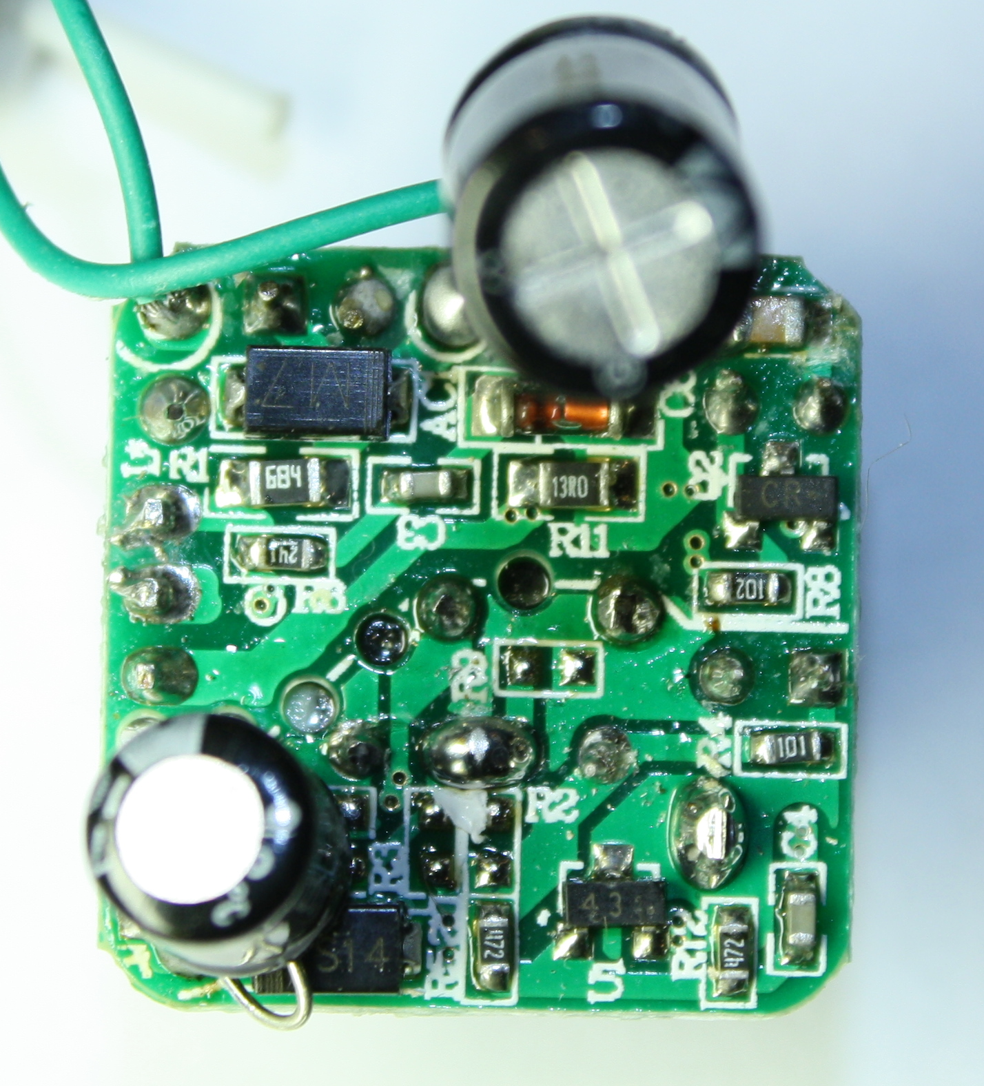 The Circuit Board Inside A Tiny Usb Charger Technology Pinterest