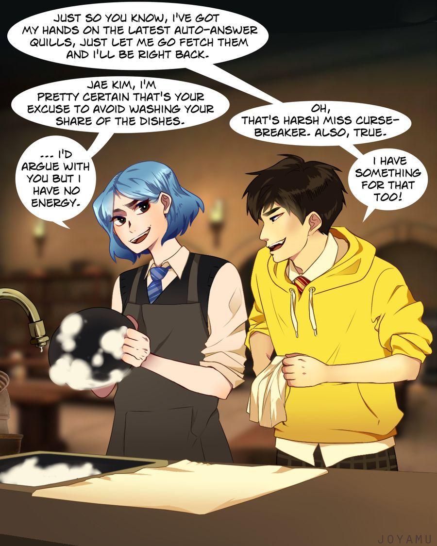 Jae Kim Has A Solution For Everything By Joyamu On Deviantart Hogwarts Mystery Harry Potter Hogwarts Slytherin Harry Potter