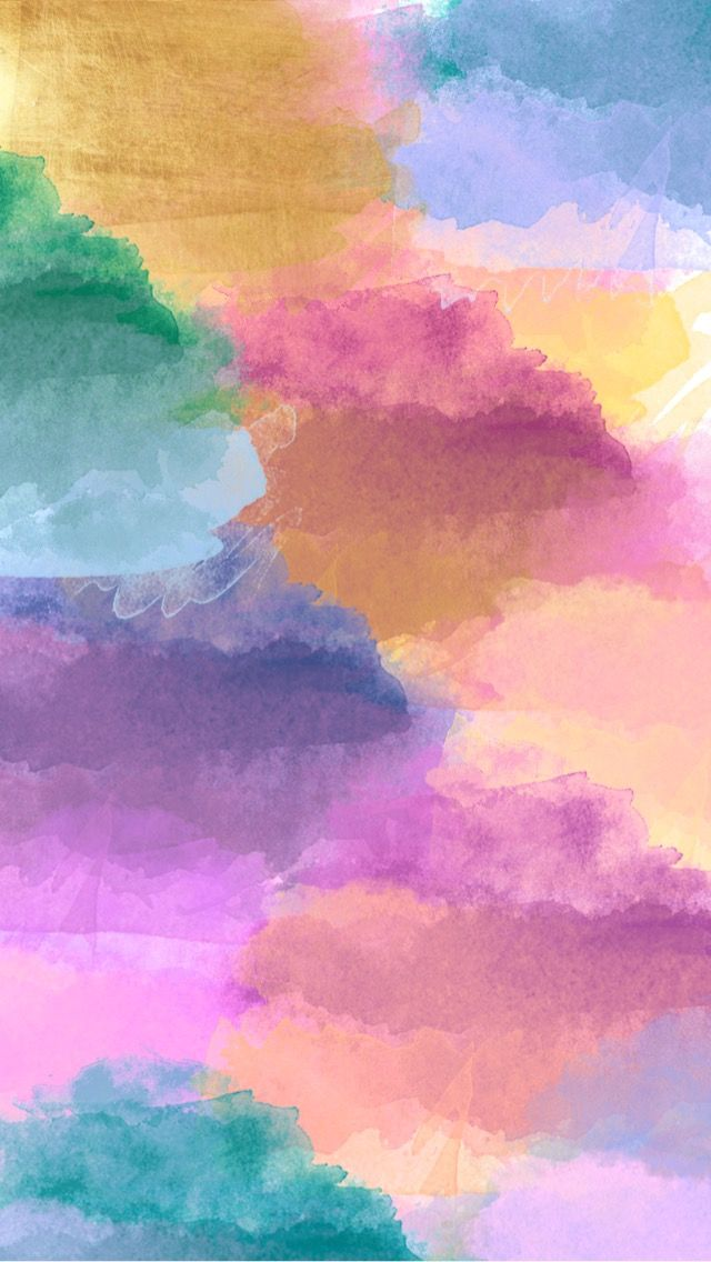 Rainbow Cloudy Iphone Wallpaper In 2019 Artsy Background