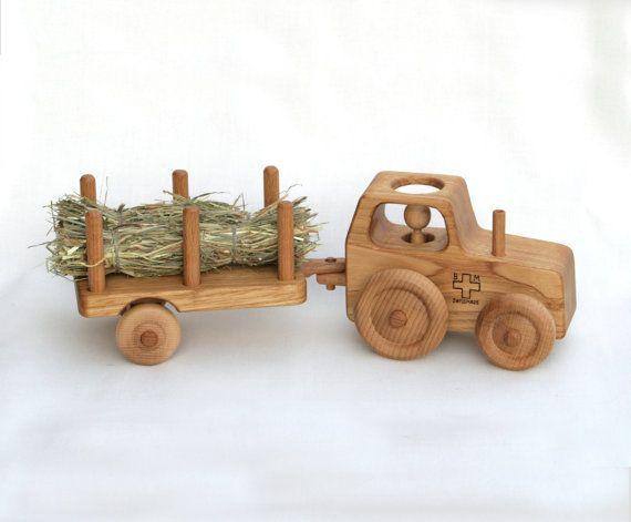 holz spielzeug traktor holzcar waldorf von bertyandmasha. Black Bedroom Furniture Sets. Home Design Ideas
