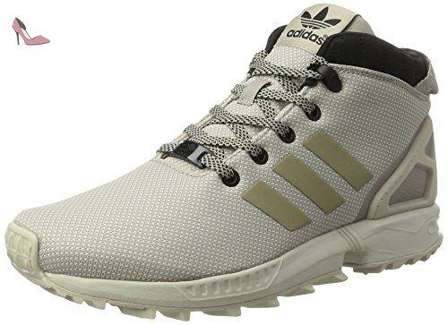 adidas ZX Flux 5/8 TR, Sneakers Hautes Homme, Noir (Core Black/Core Black/Core Black), 38 EU