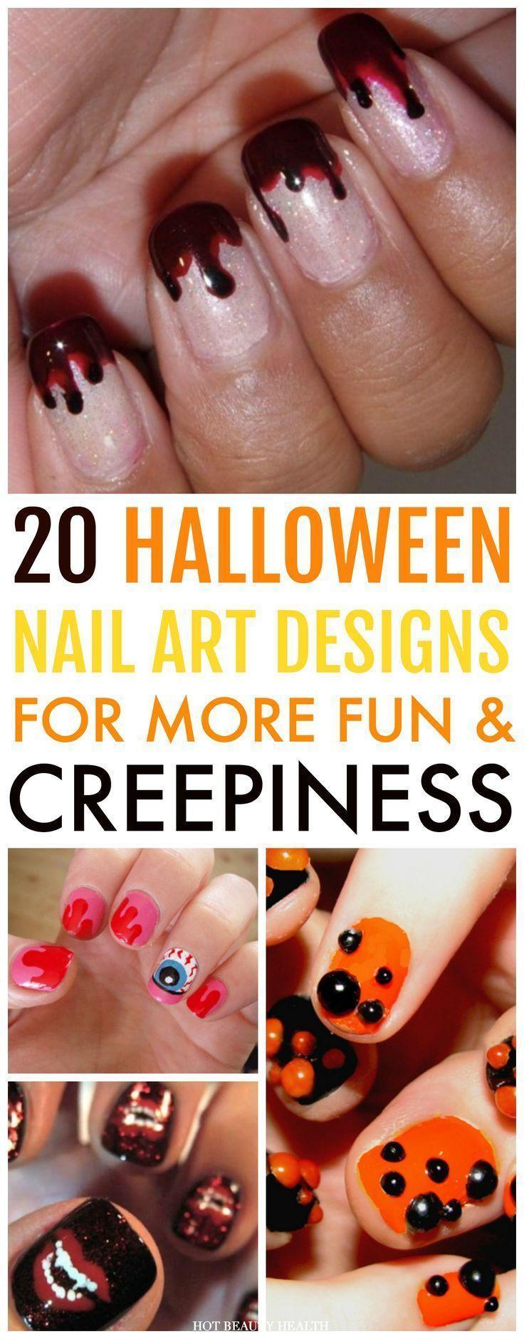 20 gruselige Halloween Nail Art Designs   – Cool Nail Designs