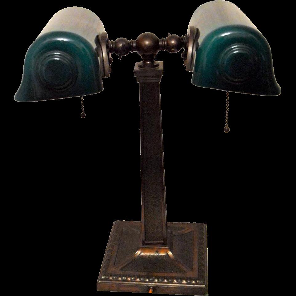 Partners Bankers Double Desk Lamp Verdelite 1917 Desk Lamp Lamp Double Desk