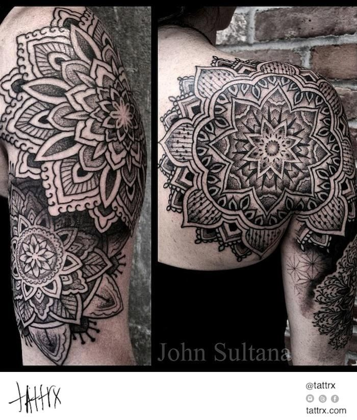 john sultana tattoos mandala half sleeve tats pinterest tattoo tatting and piercings. Black Bedroom Furniture Sets. Home Design Ideas