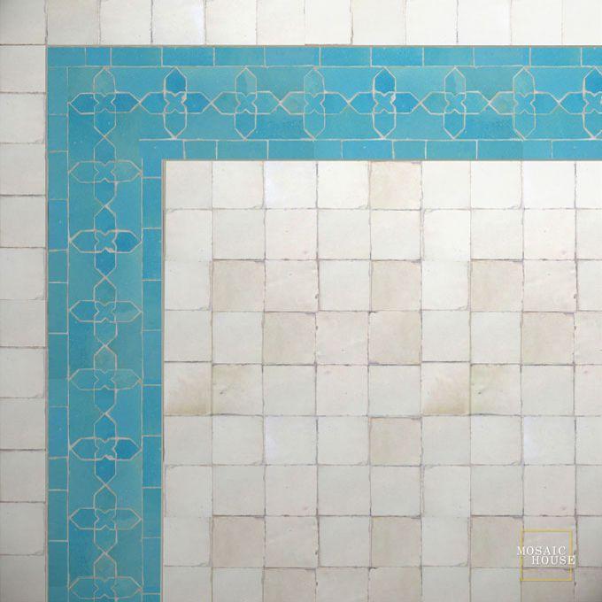 Mosaic House Moroccan Tile Kmarshoun C 23 Turquoise Solid Zellige