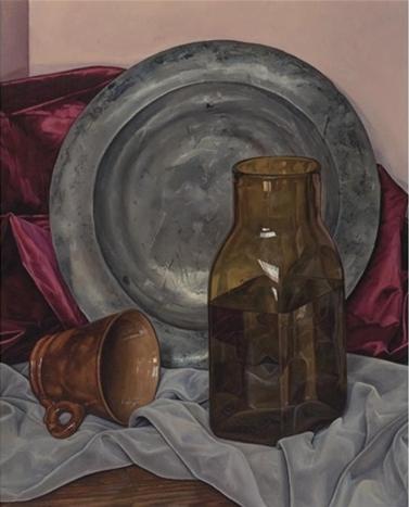 Luigi Lucioni. Harmony in grey and brown, 1966