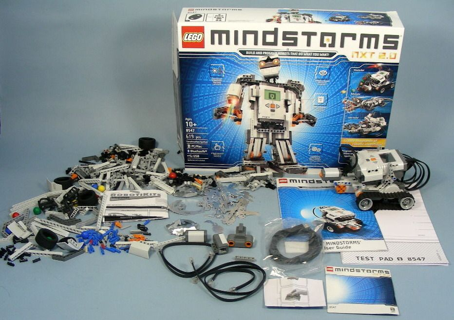 The LEGO Mindstorms NXT 2.0 is a programmable robot set with a smart ...