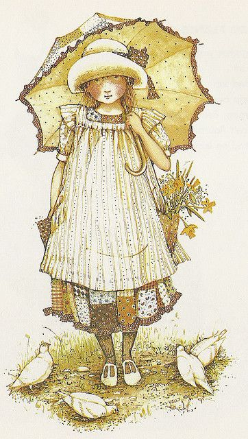 holly hobbie - feeding the birds