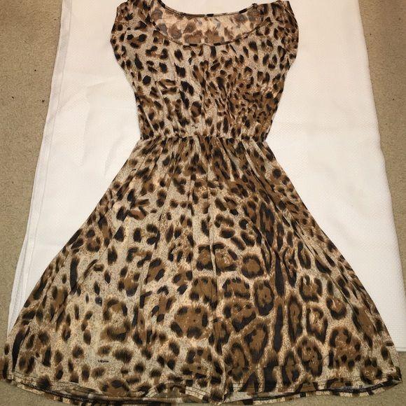 cheetah print dress never worn Dresses Midi