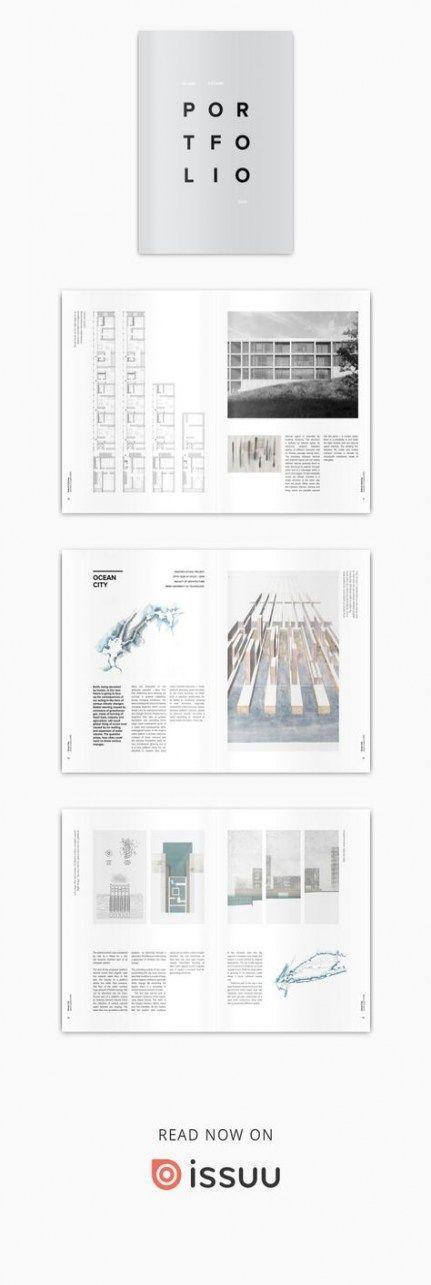 Design Portfolio Layout Architecture Inspiration 24 Ideas For 2019