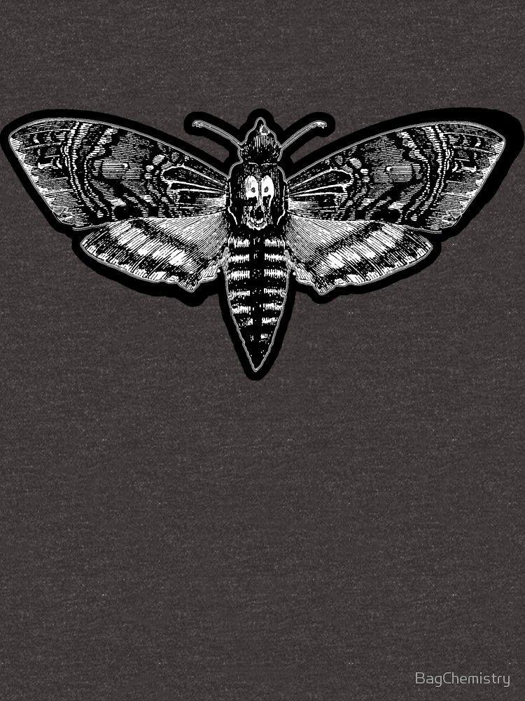 Todeskopf Motte Schweigen Der Lammer Loose Fit T Shirt Deaths Head Moth Moth Skull