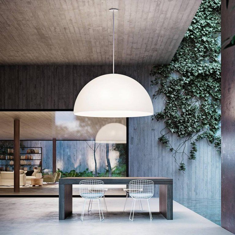 Fontanaarte Avico White Outdoor Pendant Lamp Designed By Charles