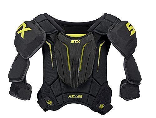 Stx Stallion 300 Senior Ice Hockey Shoulder Pad Black Ye Hockey Shoulder Pads Hockey Pads Shoulder Pads