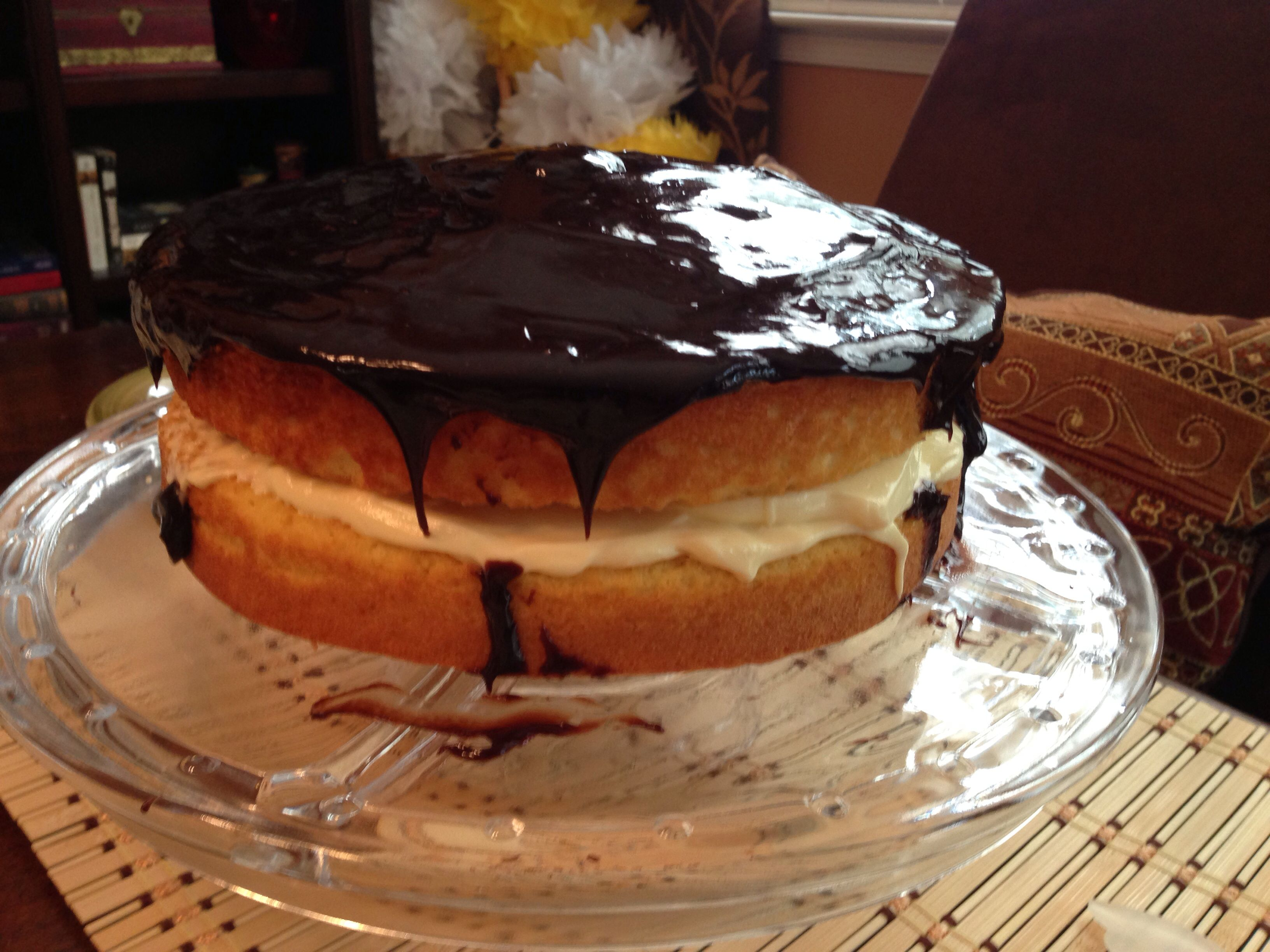 Boston cream cake.