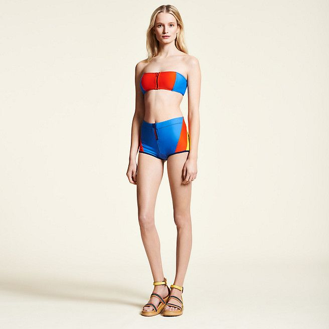 Tommy Hilfiger Hilfiger Collection Zipped Bandeau Bikini - spicy orange-pt/ multi (Yellow / Orange) - Tommy Hilfiger  - main image