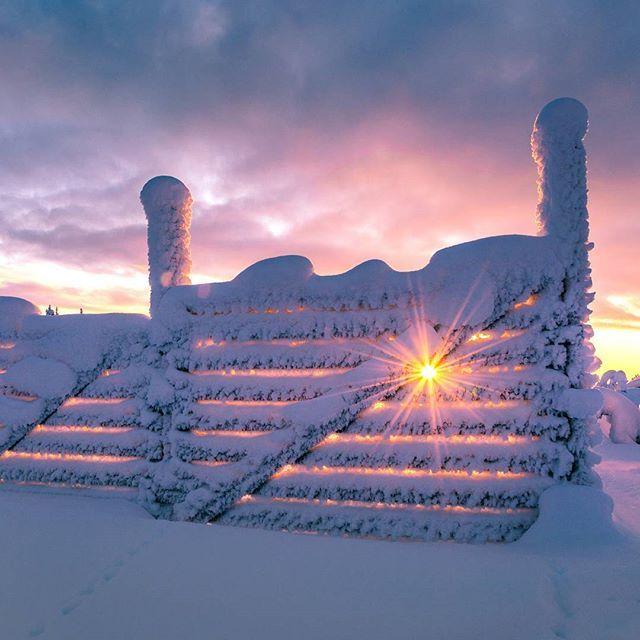 Winter sun in Enontekiö, Finland By thomaskast