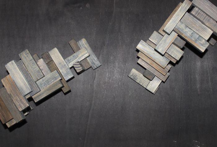 Cronoscala: wooden models.