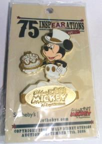 """Mickey Mouse 75 InspEARations - Sothebys """"TUXEDO"""" Pin by LENOX $25.00"""