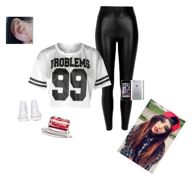 """99 problem but you ain't one"" by amourjamena ❤ liked on Polyvore"