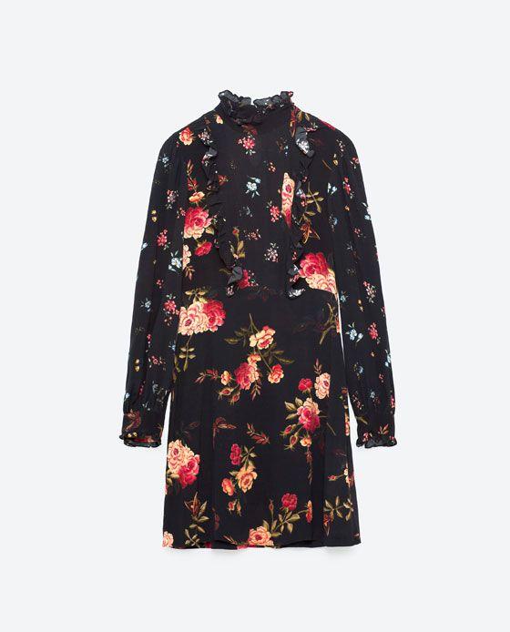 Image 8 of SHORT PRINTED DRESS from Zara