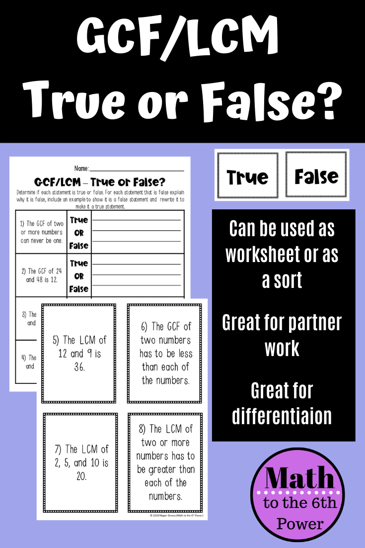 35++ Gcf and lcm word problems worksheet Info