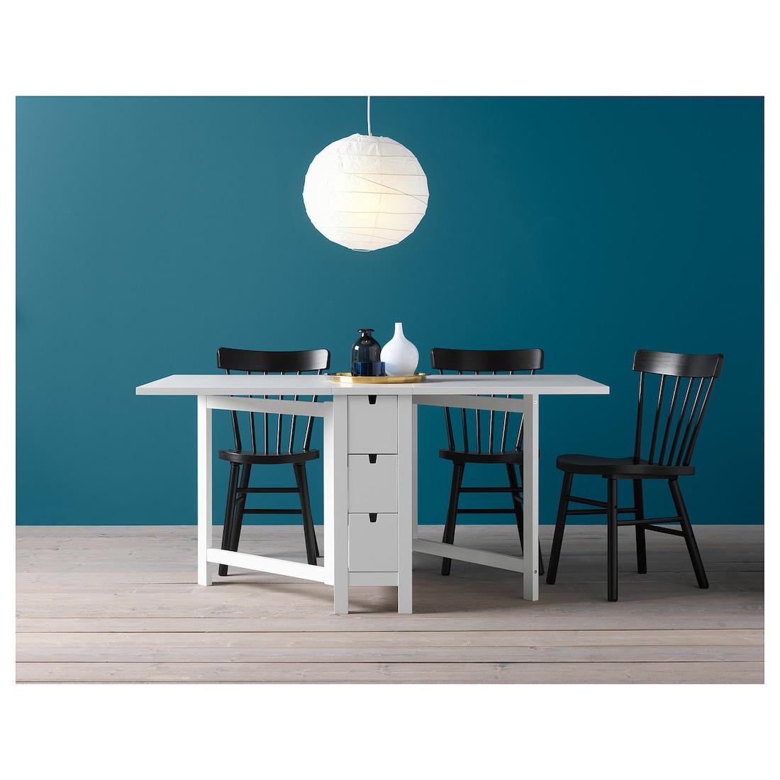 regular si puedes a menudo  NORDEN Mesa alas abatibles, blanco - IKEA   Mesa plegable, Ikea, Mesas