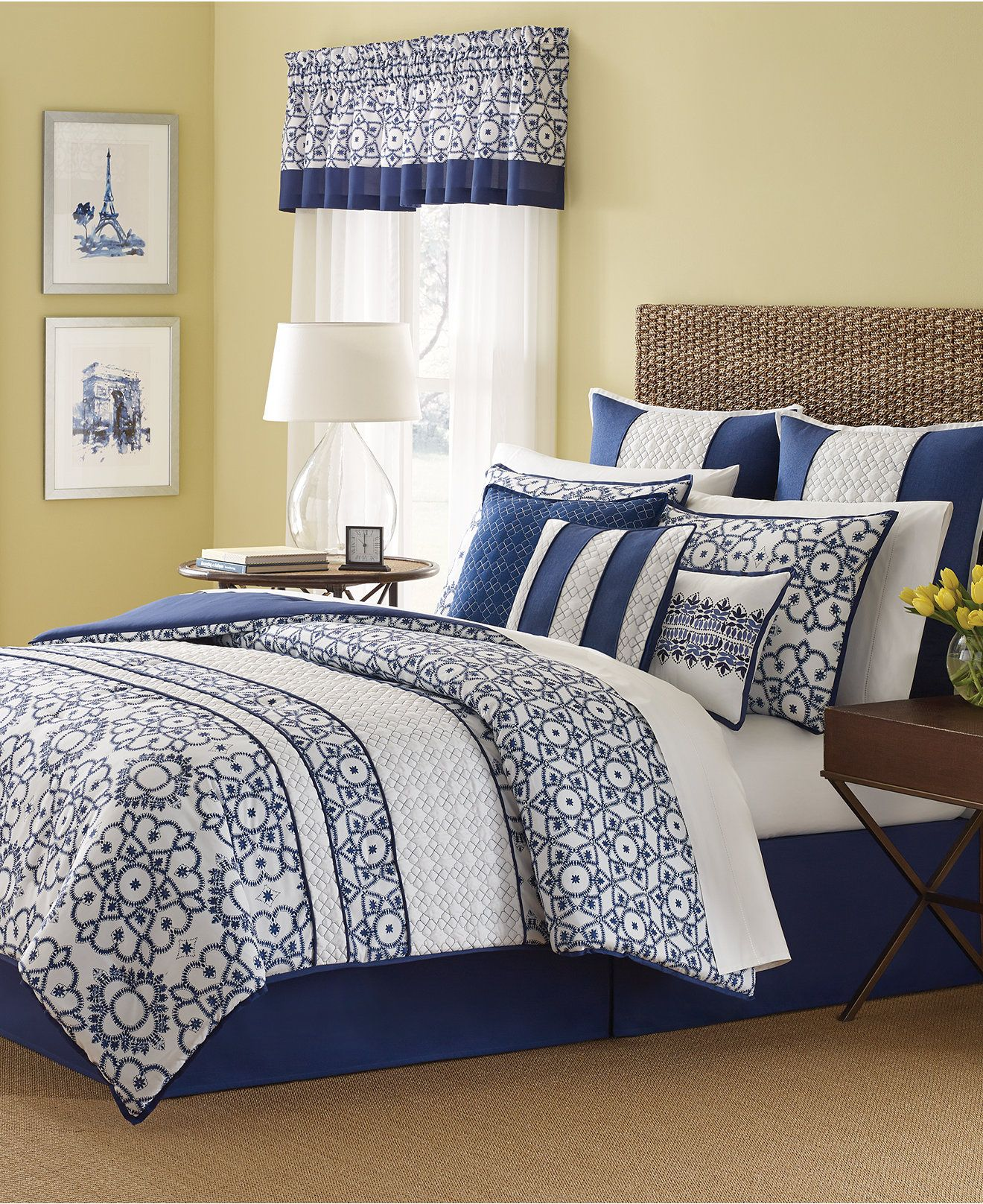 Martha Stewart Collection Lotus Medallion 9 Piece Comforter Set, Only At  Macyu0027s   Bed