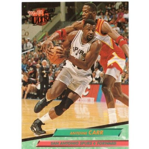 1992-93 Ultra San Antonio Spurs Basketball Card #163 Antoine Carr (BA162)