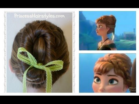 Frozen Hairstyles Anna Coronation Bun Disney Inspired Youtube