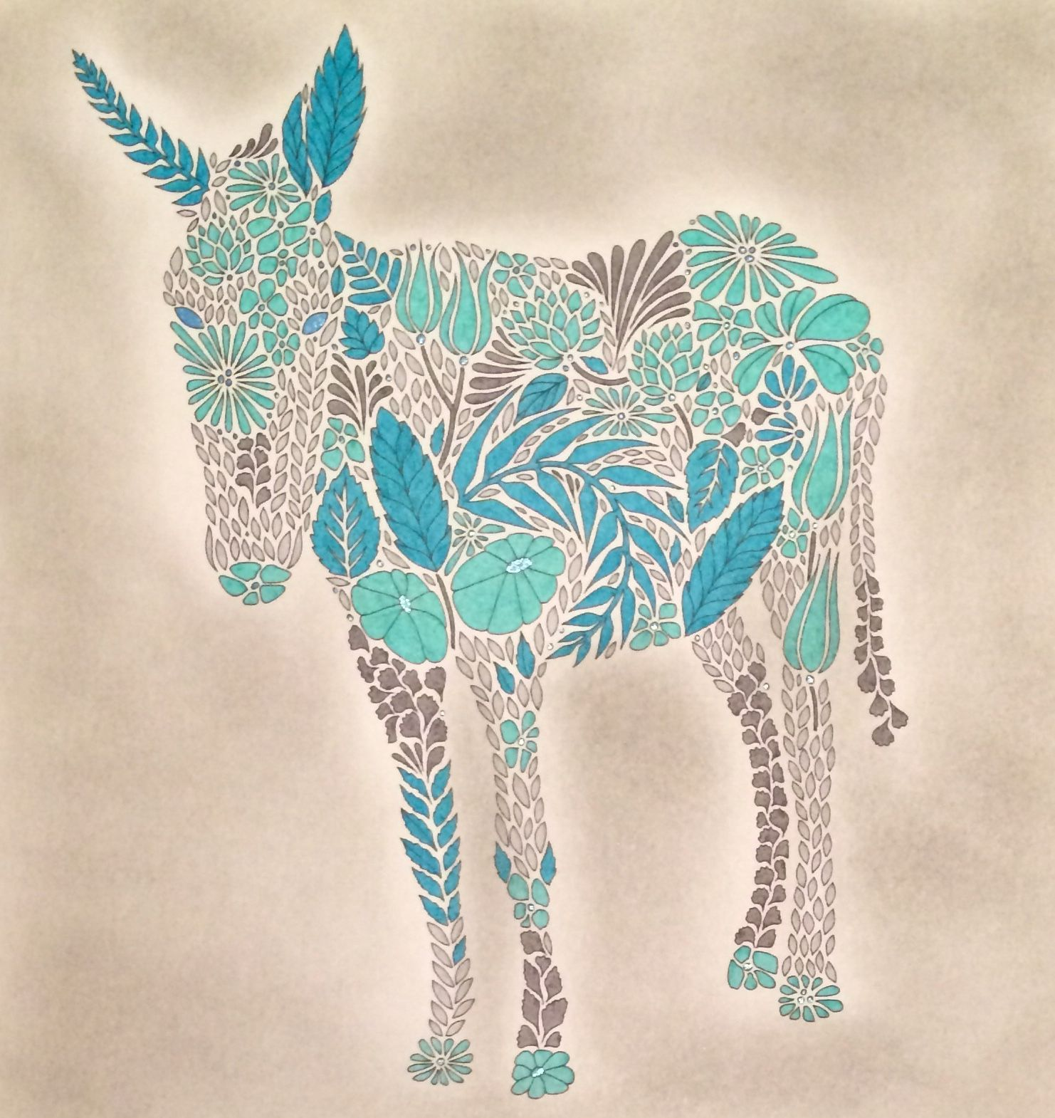 Donkey From Millie Marottas Animal Kingdom Coloured By Laura