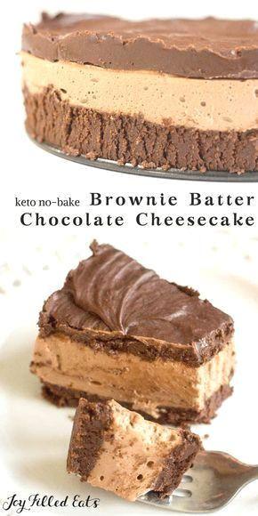 7 Leckerer & leichter Keto-Schokoladen-Käsekuchen