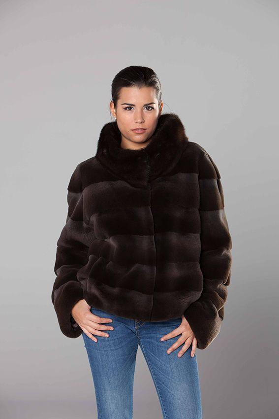 Abrigo vison despinzado