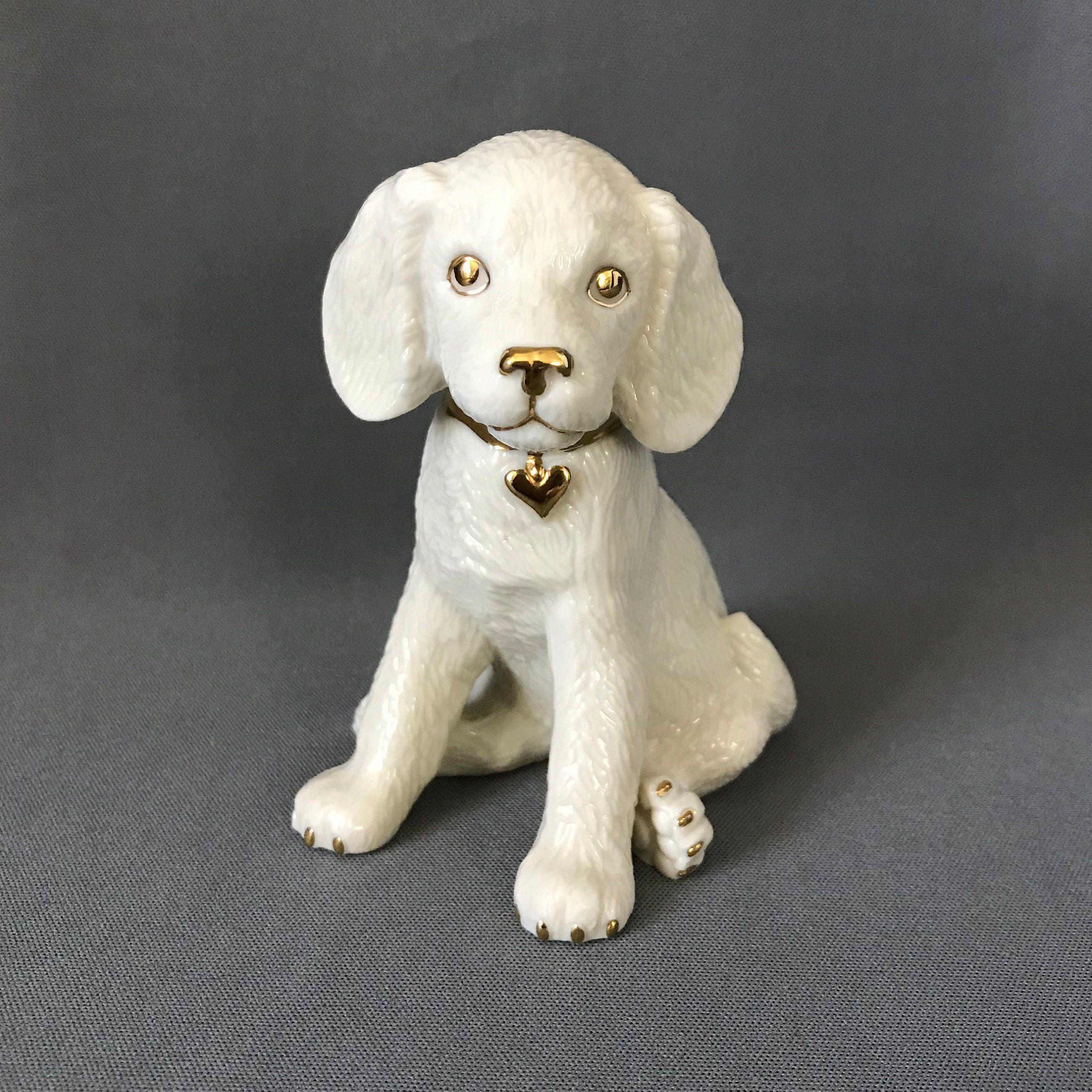 Lenox China Dog Figurine Golden Retriever Classic Puppies Dog