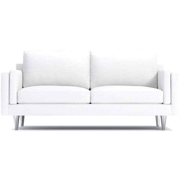 Apt2b Simpson Apartment Size Sofa White 1 288 Liked On