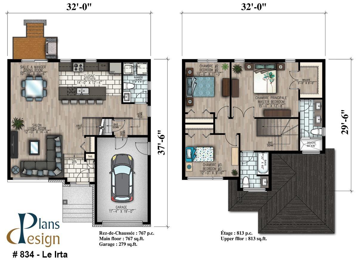 834   Le Irta Cottage | Plans Design