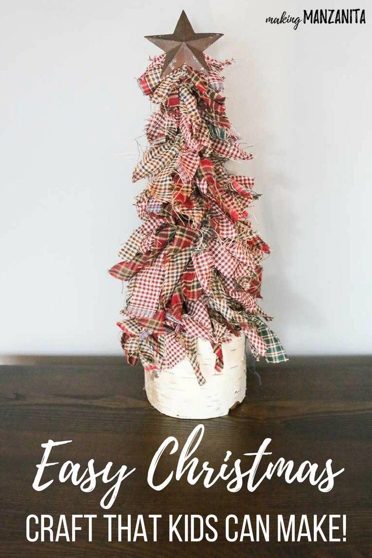 How To Make A Fabric Christmas Tree (EASY DIY) - M