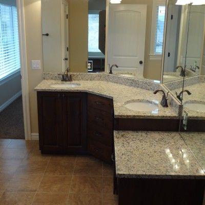 galleries - cf olsen homes | corner bathroom vanity