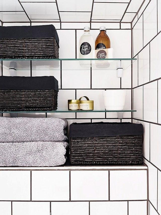 could this be the next subway tile? | grout, bath products and towels