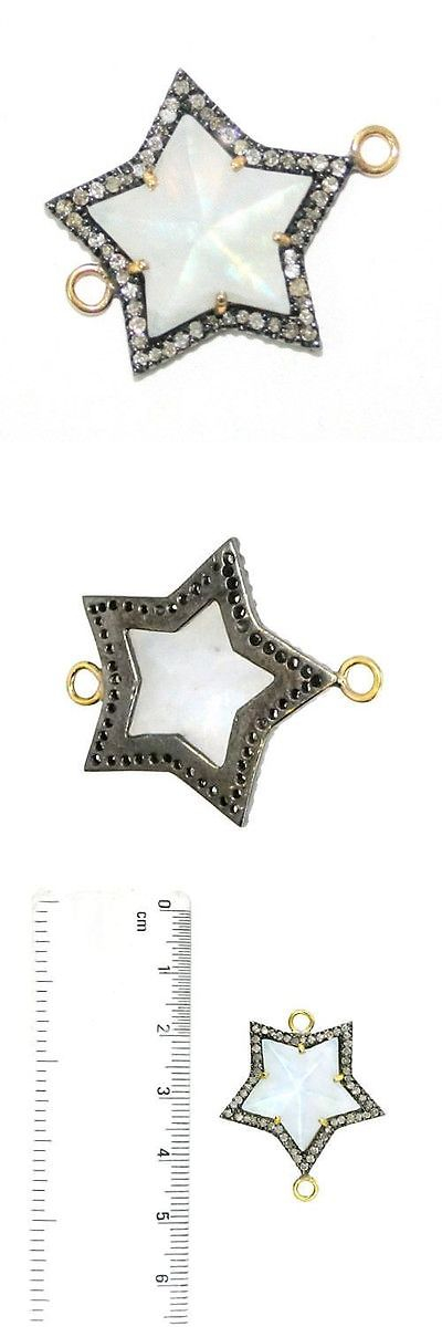 Findings and Stampings 165142: 11Ct Moonstone Star Connector Finding Diamond 14K Gold Sterling Silver Jewelry -> BUY IT NOW ONLY: $314.5 on eBay!