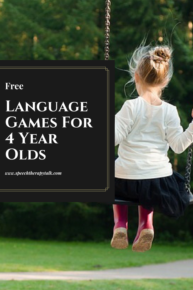 FREE Speech & Language Games For 4 Year Olds ...
