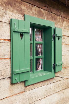 Elegant Repeindre Volets En Bois Verts Nice Look