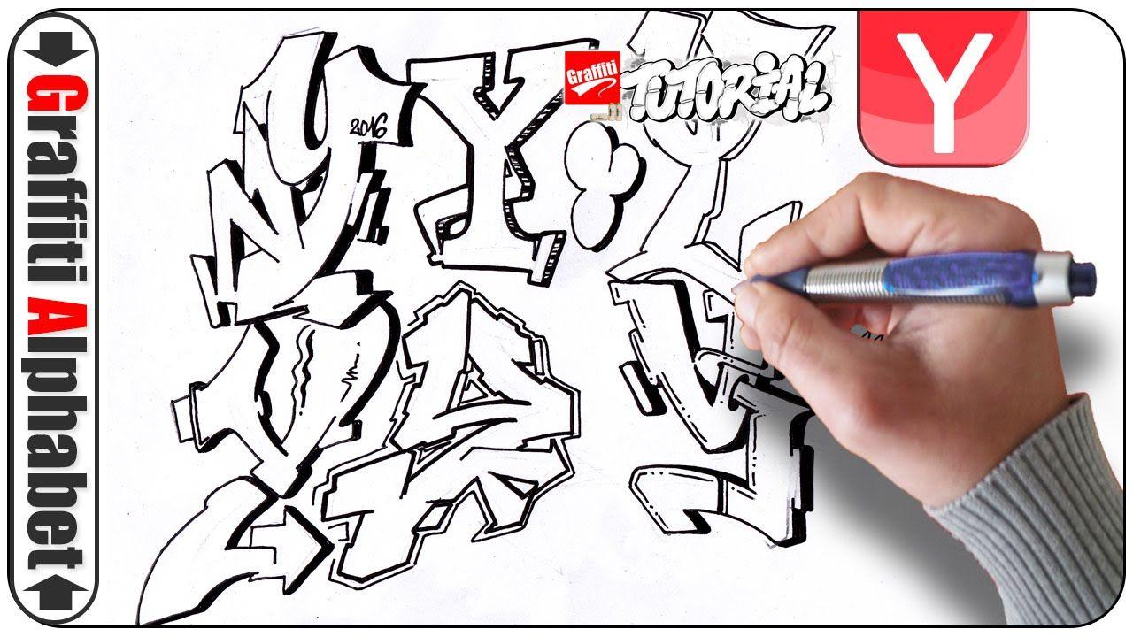 graffiti alphabets - buchstaben y - letras y - letters y - full hd, Einladung